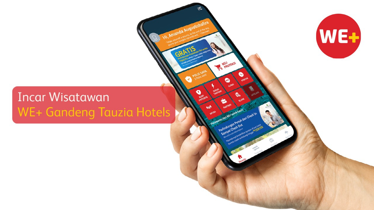Incar Wisatawan, WE+ Gandeng Tauzia Hotels